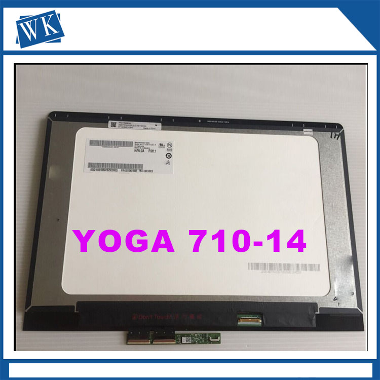 Free shipping 14 inch For Lenovo Yoga710-14 Yoga 710 14 YOGA 710-14IKB B140HAN03.0 LP140WF7 LCD Touch Screen Assembly 1920*1080