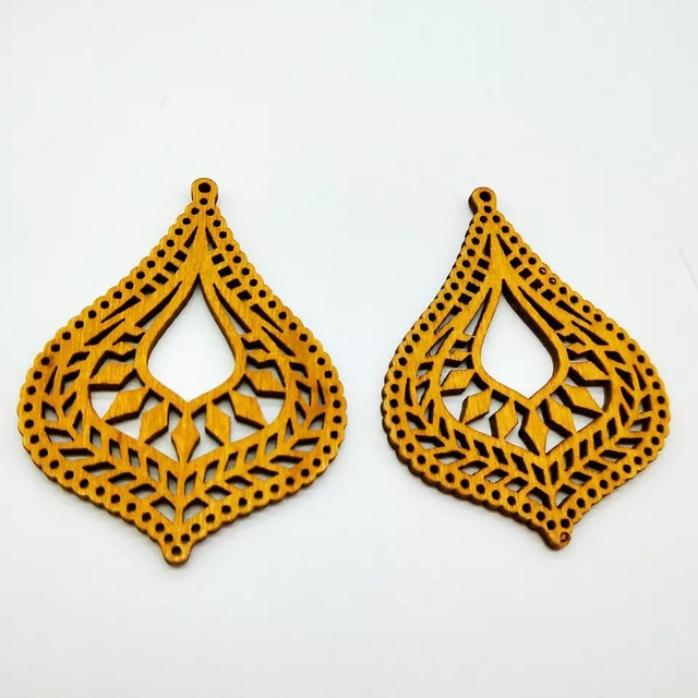 Laser Cut Wooden Earring Pendant for Crafts