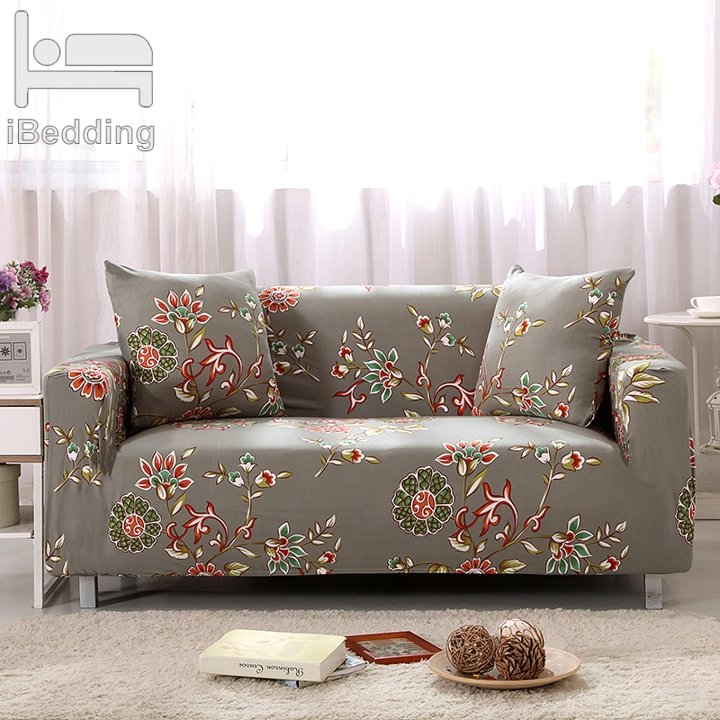Painted Flowers Elastic Sofa Protector Cover For Sofa Slipcovers