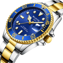 лучшая цена New style business waterproof calendar male mens luminous automatic mechanical movement stable performance alloy wrist watch