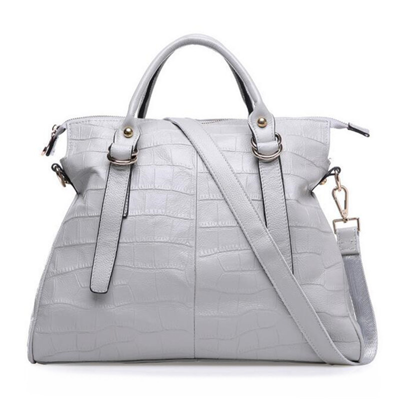ФОТО High quality Cow Genuine Leather Women's Bag women Fashion design handbag female High capacity cow leather shoulder bag 38cm