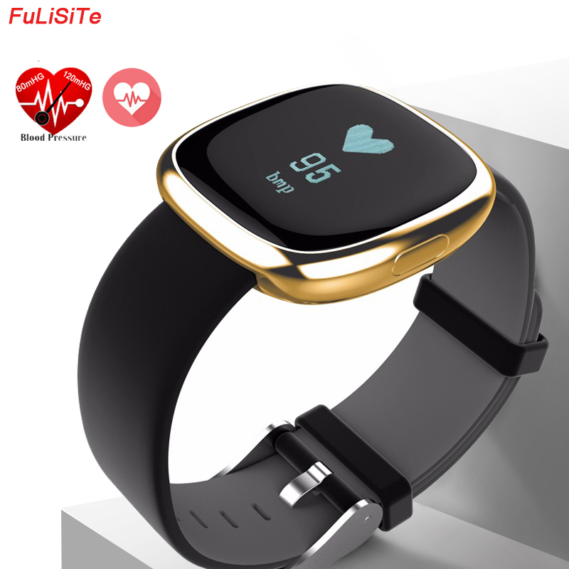 Smart Wristband Blood Pressure P2 Pedometers Pulse Fitband Fitness Activity Tracker Heart Rate Call & SMS Alert Sport Bracelet