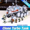 LEPIN 05031 933 Unids Star Wars Clone Turbo Tanque 75151 Edificio bloques Compatibles con 75151 STAR WARS Juguete 05031 Niños Juguetes regalo