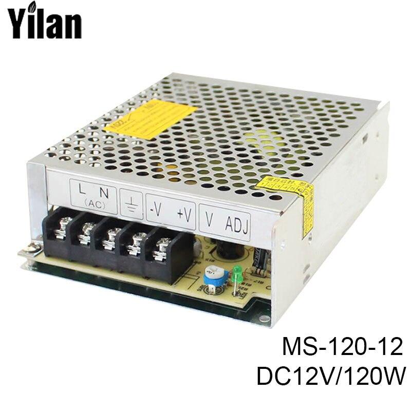 MS-120-12 free shipping fonte 120w 220v AC to DC12V mini compact switching power supply source LED driver минипечь gefest пгэ 120 пгэ 120
