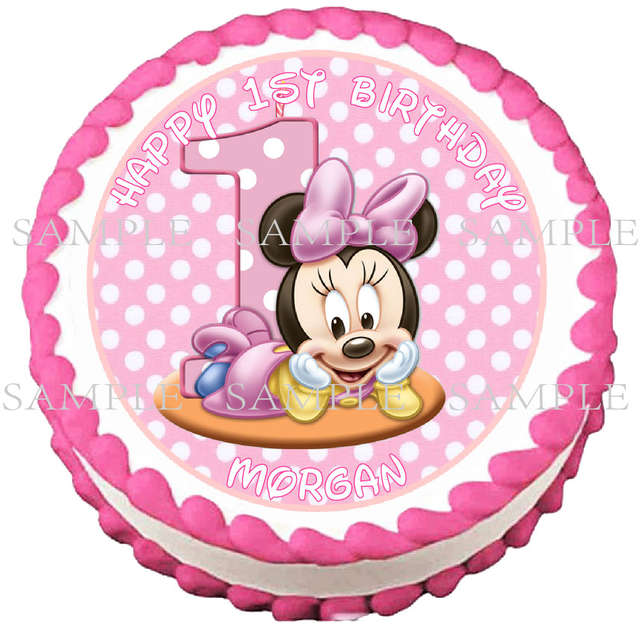 Online Shop Minnie Mouse Edible Cake Topper Wafer Rice Paper For