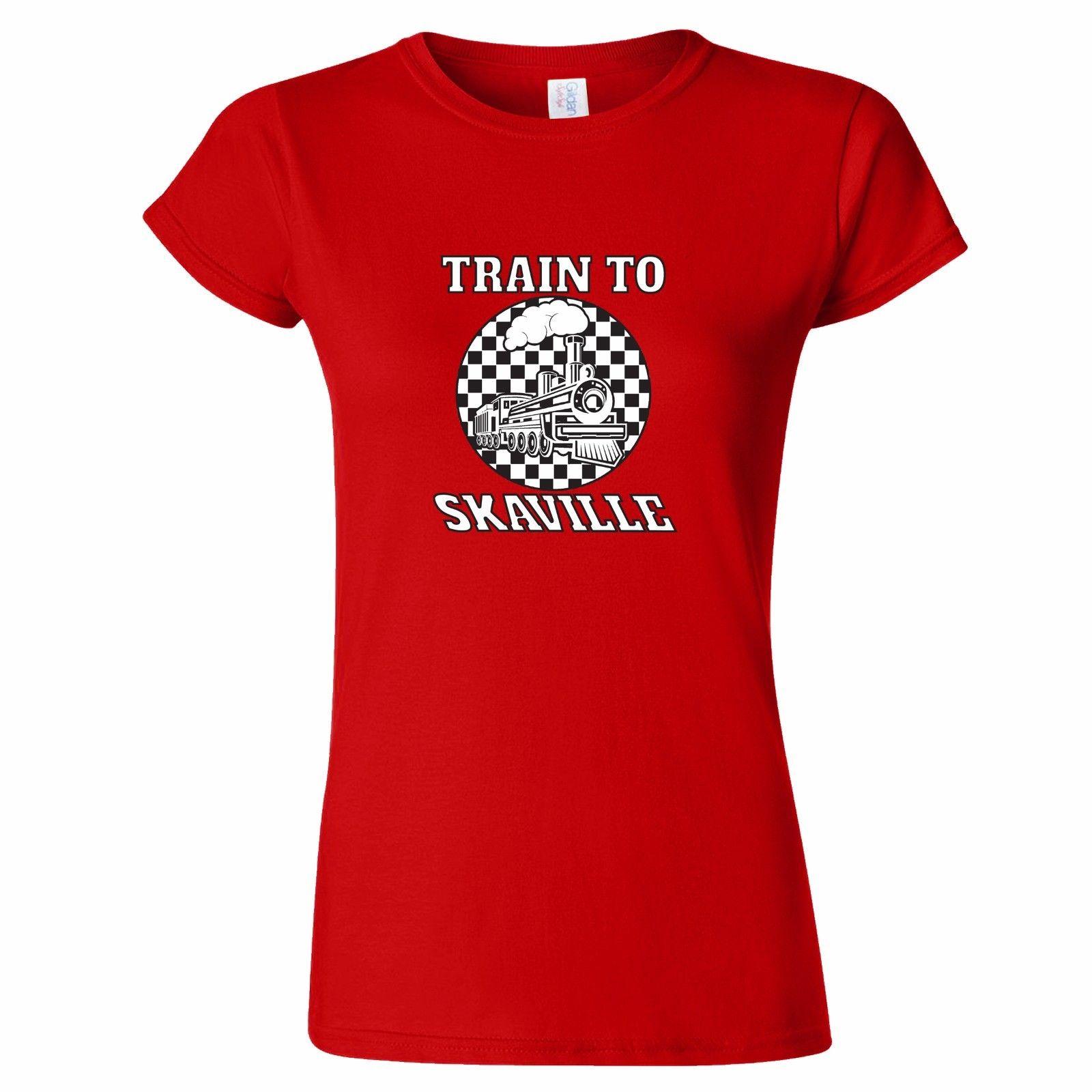 Train To Skaville Design Womensmens T Shirt Last Two Tone 2 Ska