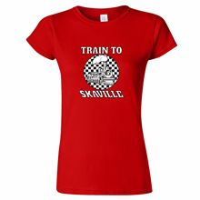 TRAIN TO SKAVILLE DESIGN WOMENS/MENS T SHIRT LAST TWO TONE 2 SKA SPECIALS BEAT THE T Shirt Cotton Men Short Sleeve Tee Shirts