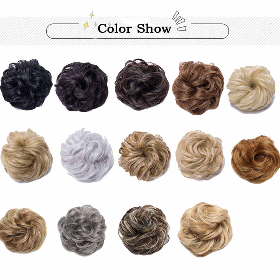 S-noilite 40 г синтетические шиньоны резинки для волос для наращивания волос кусок обертывания конский хвост волосы хвост Updo поддельные волосы булочки шиньоны