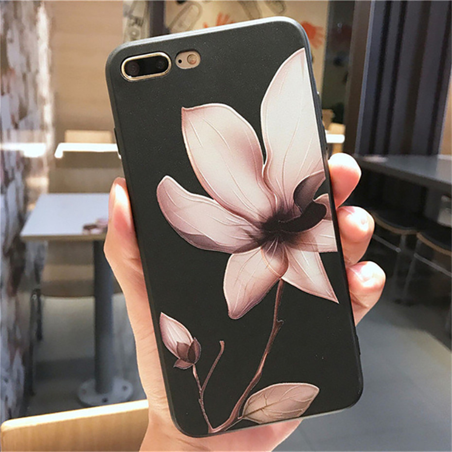 MOUSEMI Luxury 3D Silicone Case For iPhone 6 7 6S 8 Plus 5S SE X XS MAX XR Shockproof Flower Phone Case For iPhone 6 7 Case Girl (1)
