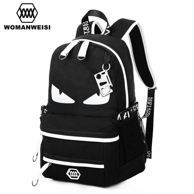 2017 Trend Anime Brand Backpack Preppy Style School Bags For Youth Women Bagpack Satchel Male Oxford Travel Bags mochila escolar цена 2016