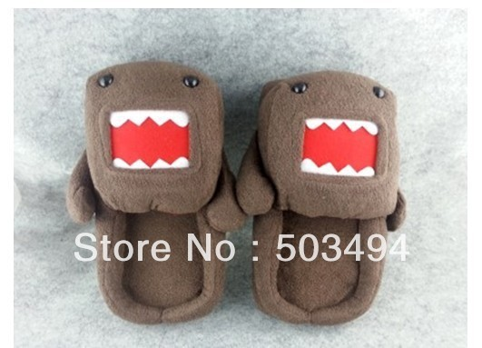 Retail Plush Slippers Domo Kun slippers 11 '' Free shipping