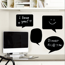 1 Set Chalk Board Sticker Craft Kitchen Jars Blackboard Sticker Organizer Labels Computer Desktop Chalkboard Black Board(China (Mainland))