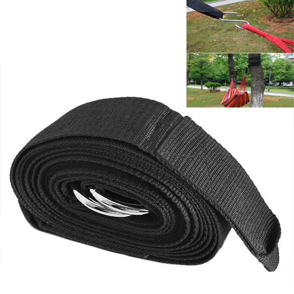 Strong Hammock Hanging Belt Hammock Strap Rope With Metal Buckle Load 200kg