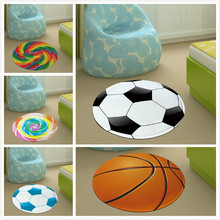 Football Basketball Rugs Lollipop Round Carpets Boy Children Room Skidproof Area Floor Mats Kids Crawling Mat Decor GY17