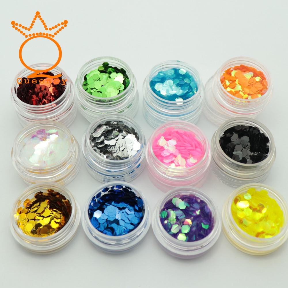 1 Box Nagel Pailletten Set Gemischt 12 Farben Glitter Sechseckigen Laser Ab Chameleon Farbe Nail Art Paillette Bunte Dekorationen Knitterfestigkeit Nails Art & Werkzeuge