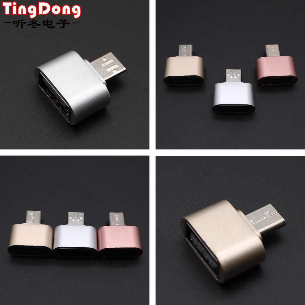 TingDong وتغ محول المصغّر usb وتغ 2.0 تحويل لالروبوت الهاتف لسامسونج كابل قارئ بطاقات كابل OTG قارئ