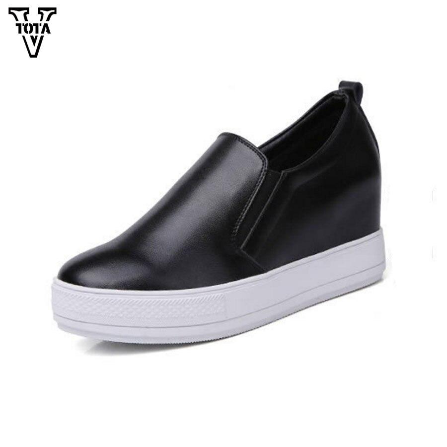 VTOTA Spring Autumn Shoes Woman Genuine s