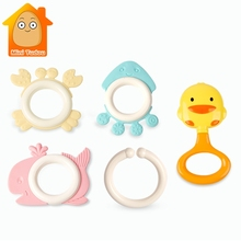 Cute Baby Toys Newborn Teether Hand Bells Baby Toys 0-12 Months Teethi