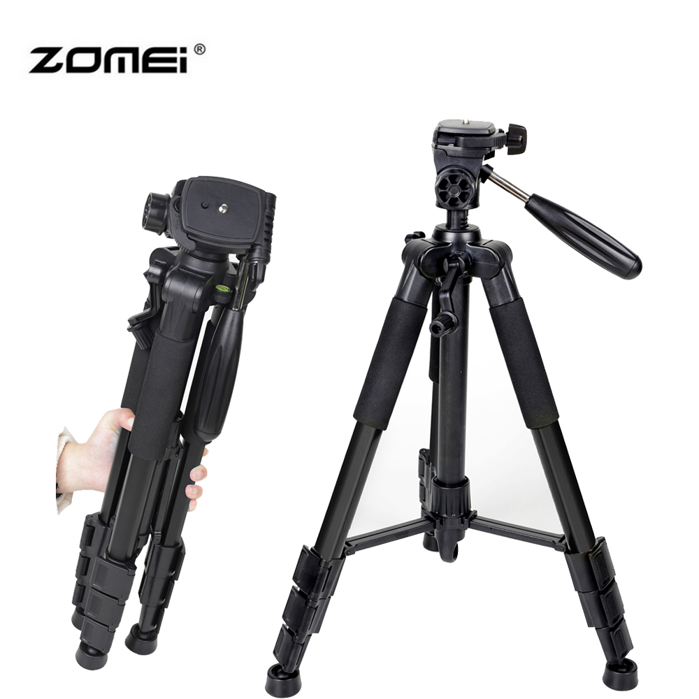 Zomei Professional Aluminum Alloy SLR Three Camera Folding Portable Tripod with Ball Head Bag Travel for DSLR Black Q111 original weifeng wt3770 portable lightweight aluminum alloy tripod with carrying bag for dslr slr camera