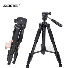 On sale Zomei Professional Aluminum Alloy SLR Three Camera Folding Portable Tripod with Ball Head Bag Travel for DSLR Black Q111