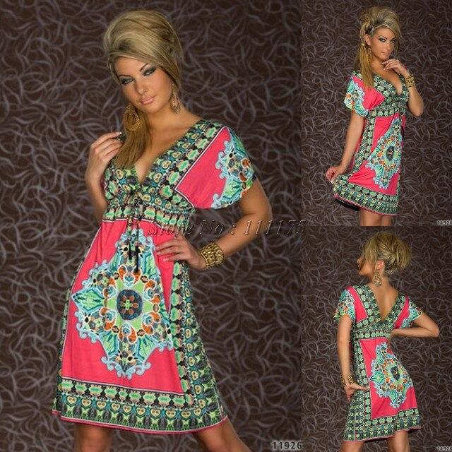 Платье с глубоким v-образным вырезом в стиле Дашики, сексуальное летнее ретро платье, винтажное пляжное платье в стиле хиппи с принтом пейсли, отправка в ближайшее время