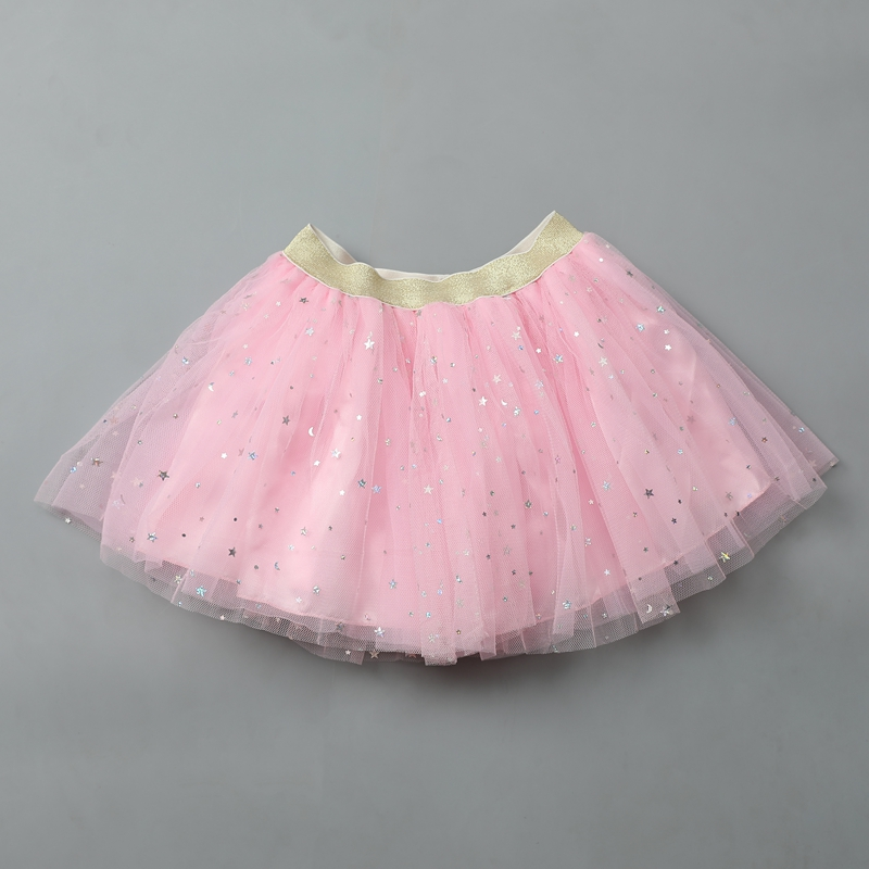 Baby Skirts Girls Ballet Dance Pettiskirts Tutu Toddler Star Glitter Printed Ball Gown Party Tutu Kids Skirt Children's Clothes
