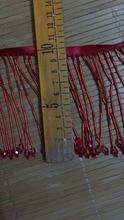 stock tassel  10yards/bag ym186# Ribbon in 10 cm red pearl tube pendant for sawing dress fringe trim alibaba express