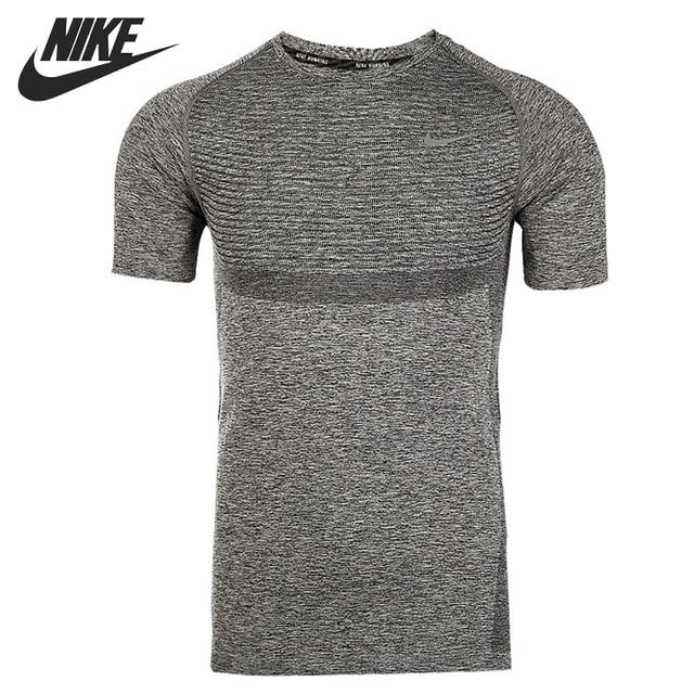 07176215 Original NIKE DRI-FIT KNIT SS Men's Running T-shirts short sleeve Sportswear