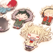 My Hero Academia Anime Boku no Hero Academia Midoriya Todoroki Shoto Bakugou Himiko Toga Dabi DOUBLE SIDED Acrylic Keychain(China)