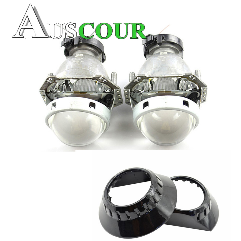 2pcs 3.0 inch hella 5 Bi xenon Bixenon hid Projector lens D1S D2S D3S D4S with zkw shrouds headlight car headlight hid xenon