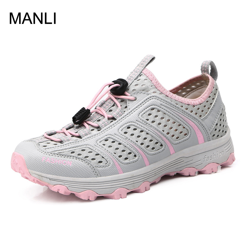 MANLI Outdoor Men Camping Hiking Shoes Woman Breathable Sport Shoes Sandals For Men Trekking Trail Water Climbing & Fishing Shoe