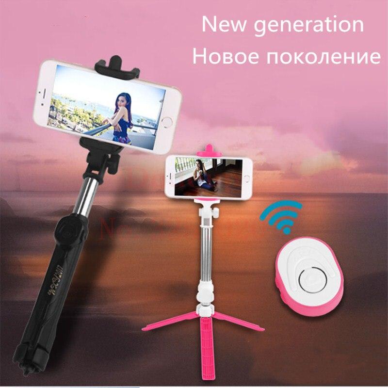 2018 neue generation Bluetooth Fern Universelle Selfie Stick Mini Einbeinstativ stativ Palo Erweiterbar selfie stick Für iphone 6 S 7 8 X