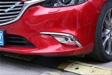 Высокое качество для Mazda 6 Atenza седан и универсал 2016 2017 ABS передних противотуманных фар лампы лицевую панель Наклейки отделкой 2 предмета