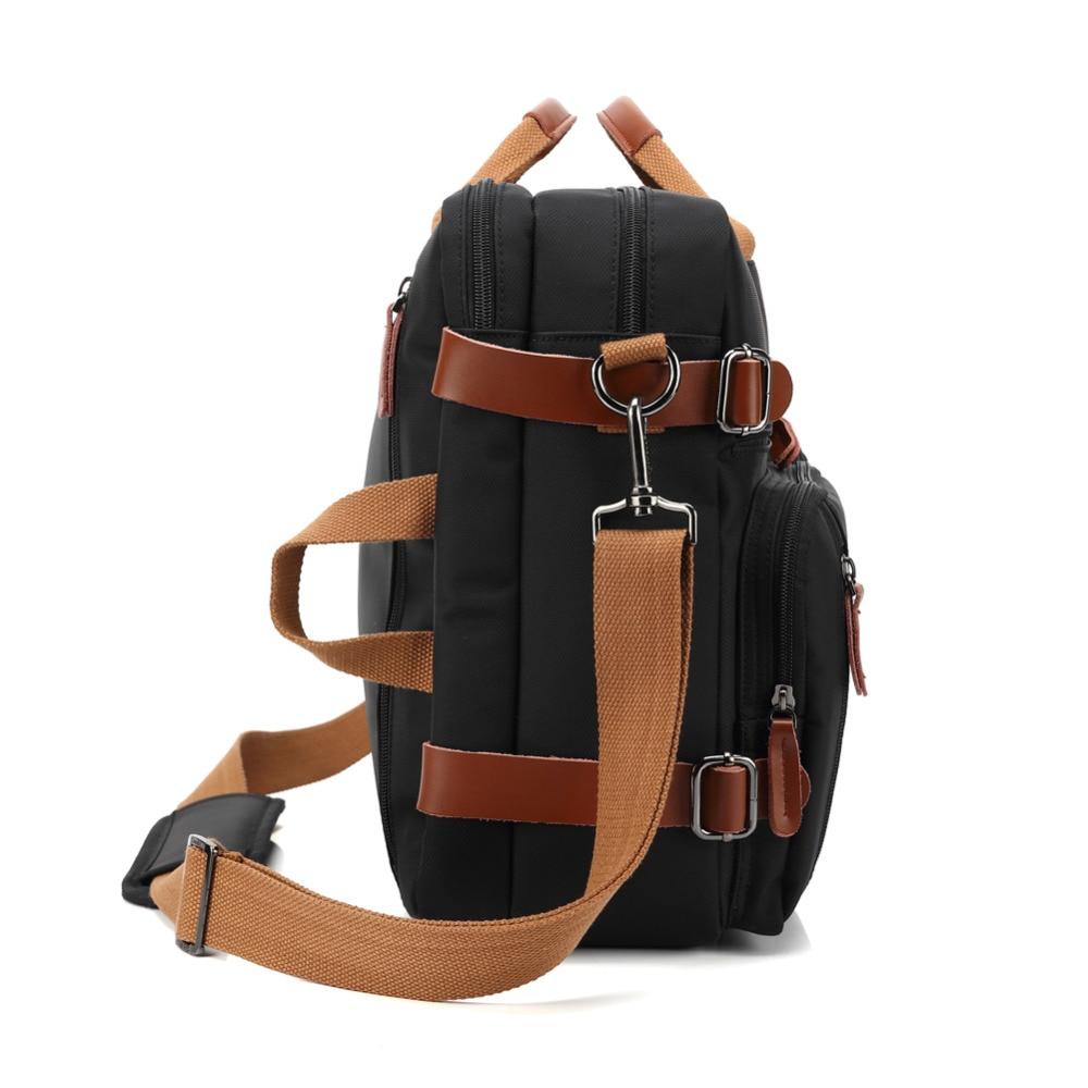 Bolso del negocio maletín mochila Convertible mochila 15 17 17,3 pulgadas portátil mensajero del hombro del ordenador portátil caso - 3