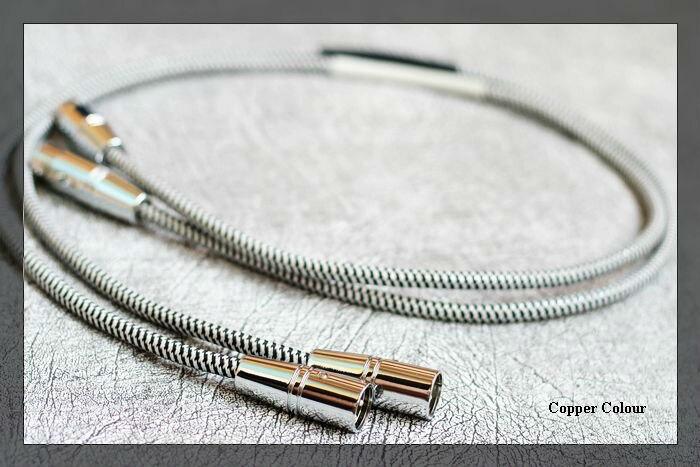 pair Copper Colour Whisper audio Balance Signal Cable hifi interconnect cable