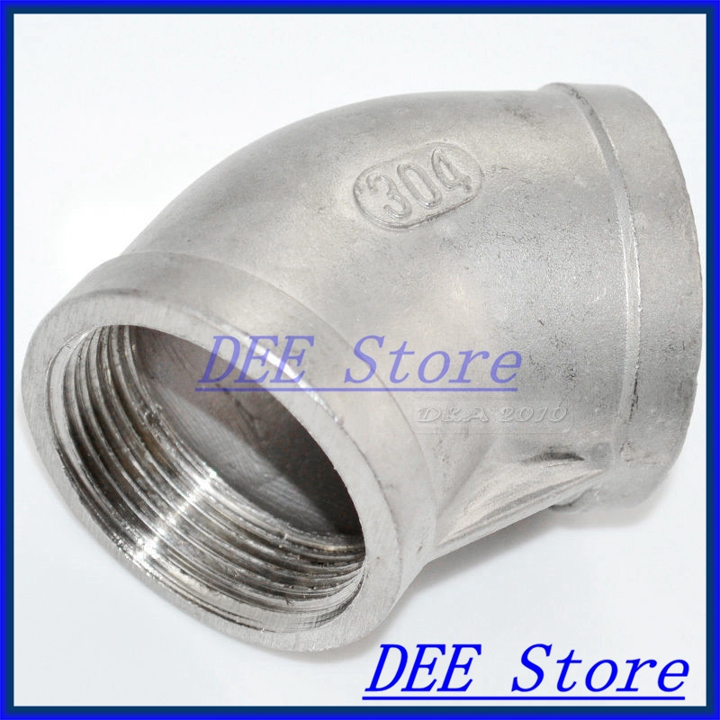New 45 Degree Elbow 1.5 Female Fitting 304 Stainless Steel Pipe Biodiesel NPT NEW 3 4 19mm od sanitary weld elbow pipe fitting 90 degree pipe fittings stainless steel ss316