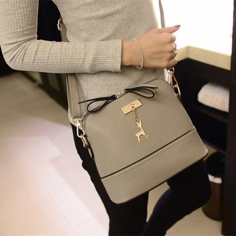 dd076f3ae2ab Fashion PU Leather Shoulder Bag Women Messenger Bags Vintage Small Shell  Leather Handbag Casual Bags Ladies HandBags Clutch Bag