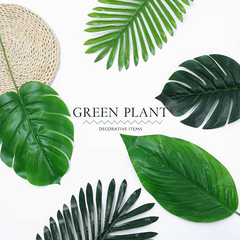 1pc Large Tropical Monstera Palm Tree Leaves Artificial Plants Green Plastic Leaf Fake Plants Home Garden Decoration Accessories Artificial Plants Aliexpress Perhaps because this is a gif beautiful tropical morning. 1pc large tropical monstera palm tree