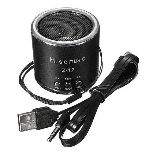 Mini Speakers Speaker FM Amplifier Radio USB Micro-SD TF Pr PC MP3 iPod, Black