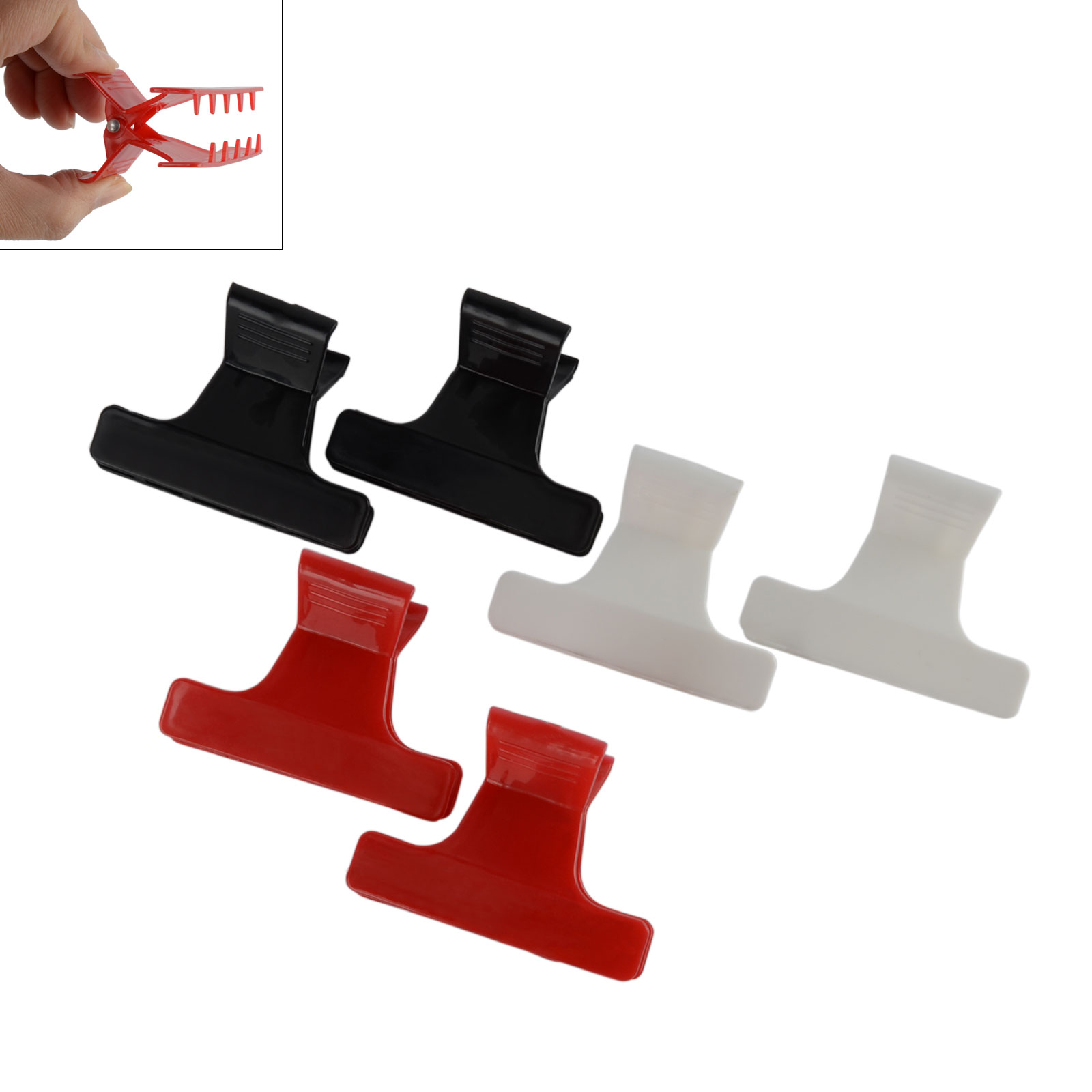 6pcs Hairdressing Salon Claw Clips Multi-color Butterfly Clamp Claw Sectioning Hair Jaw Clips For Styling Tool Mayitr