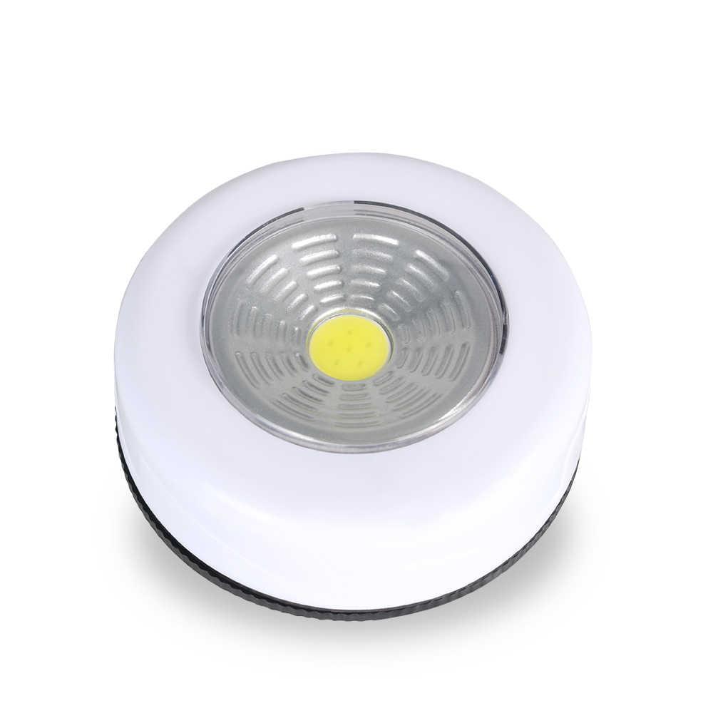 COB светодиодный беспроводной кран для шкафа сенсорный светильник 3 Вт на батарейках кухонный шкаф для шкафа нажимной кран домашняя палка на лампе Blub