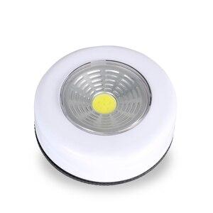 Image 2 - Đèn Rọi Ray COB Không Dây Dính Tập Tủ Quần Áo Cảm Ứng Đèn 3W Chạy Bằng Pin Tủ Bếp Tủ Quần Áo Đẩy Tập Nhà Dính trên Đèn Blub