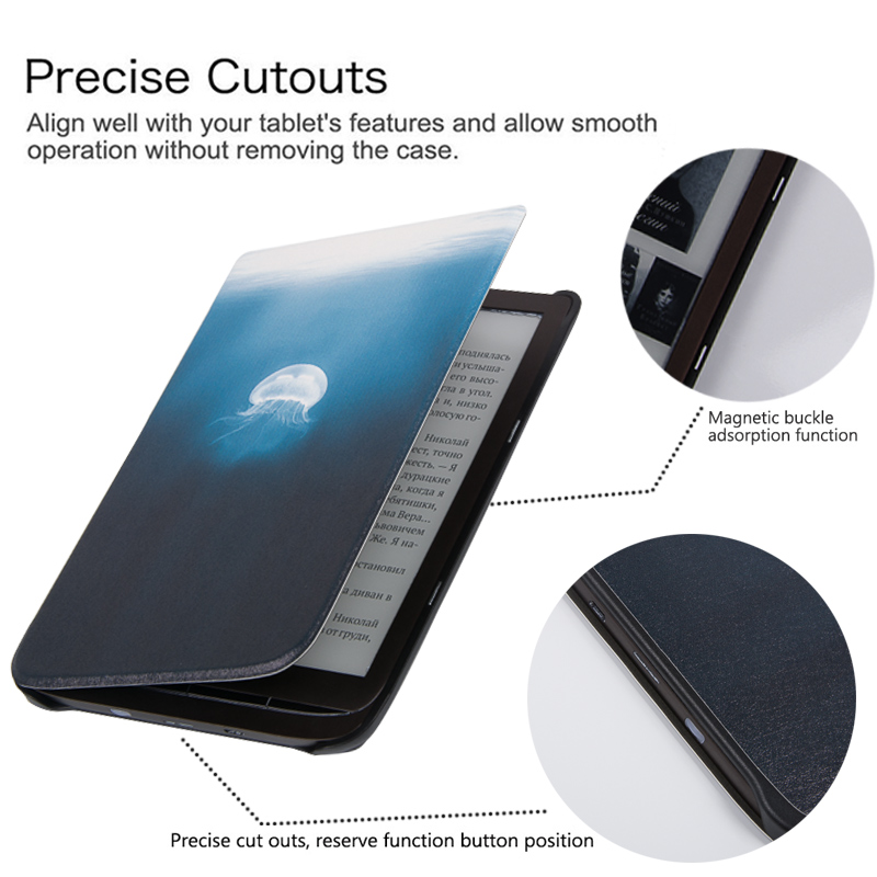 BOZHUORUI Magnetic Smart Cover Case for 7.8