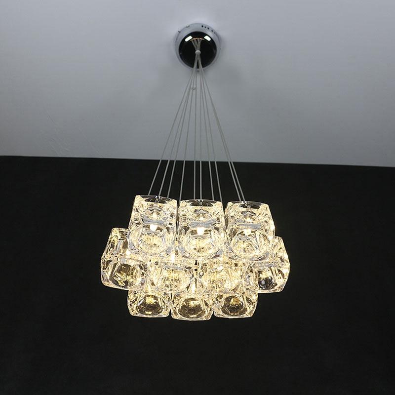 LED Modern Crystal Droplight H100cm (Can Adjustable Freely) Restaurant Lamp Crystal Glass Lamp Bar Dinningroom Ceiling Light
