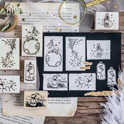 1 шт. Маленький принц штампы дерево прозрачные штампы ручная работа Скрапбукинг декорирование прозрачные штампы Роза лиса креативный