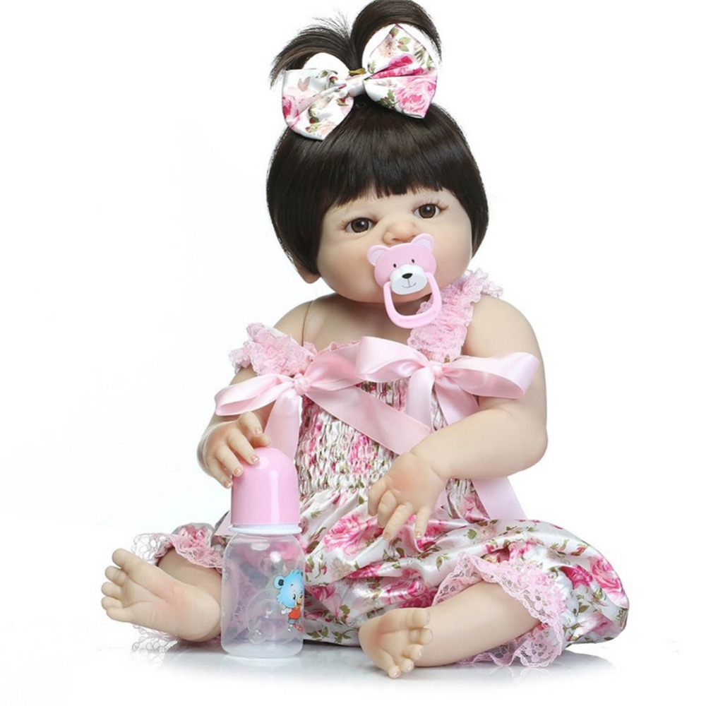 npk collection bebe reborn with silicone girl body 57 cm realistic babies reborn dolls toys for children girls baby born dolls npk collection 18 inch reborn babies