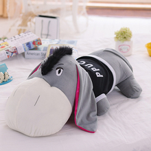 Giant Stuffed Plush Toy Animals Doll Donkey Cute Pillow Talk Jouet Peluche Graduation Gift Almofadas Toys For Children 70G0346