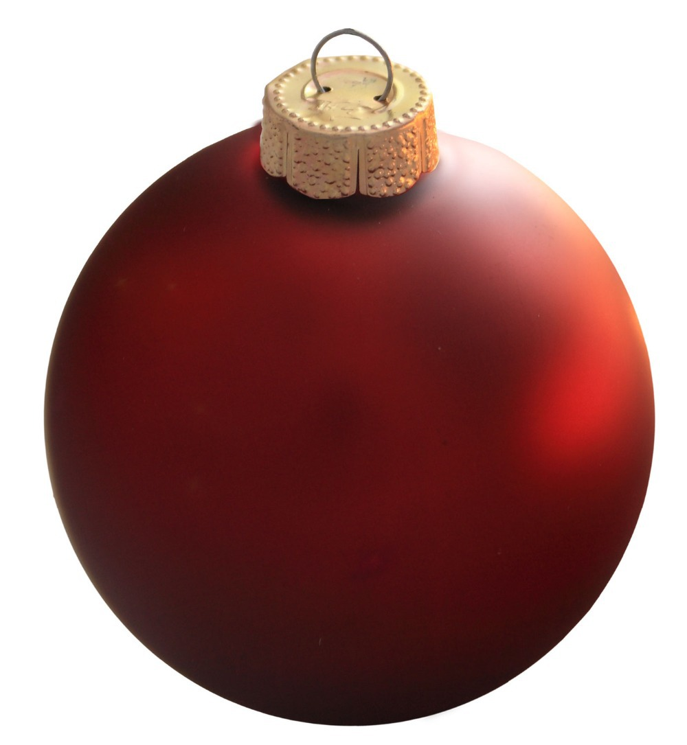 Red Christmas Ball Ornaments.Customized Accept Event Party Bauble Ornaments Christmas Tree Decoration Glass Balls 80mm Ornament Matte 100 Pack