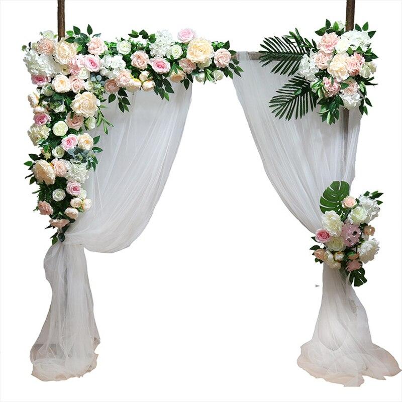 Fleur artificielle mur arche soie rose pivoine plante mix décor fleur mur bricolage mariage scène décor fausse fleur 1 ensemble