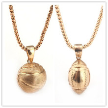 2style Circle Oval Golden Basketball Necklace Hip hop Chain Necklace Women and Men Jewelry